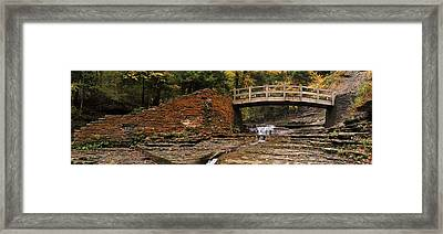 Stone Walls And Wooden Bridges Framed Print by Joshua House