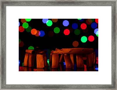 Stonehenge In Starry Night Framed Print by Paul Ge