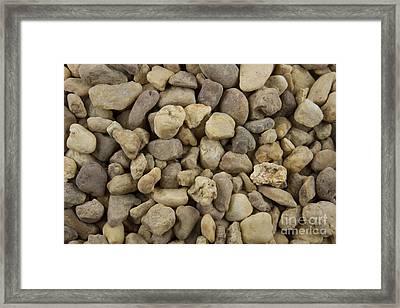 Stones Framed Print by Blink Images