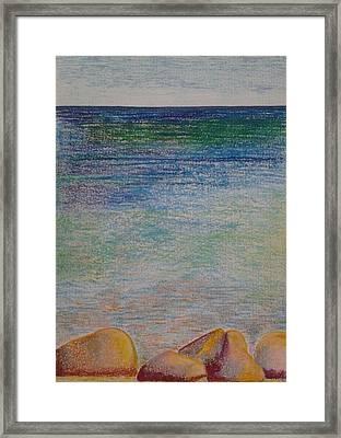 Stones By The Sea Framed Print by Taruna Rettinger