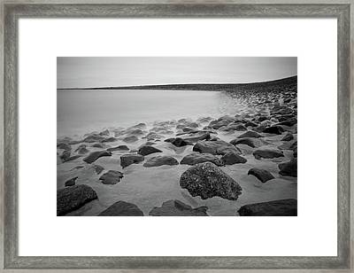 Stones In North Sea In Germany Framed Print by by Felix Schmidt