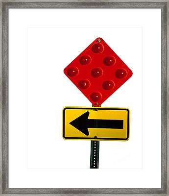 Stop And Turn Street Sign Framed Print by Blink Images