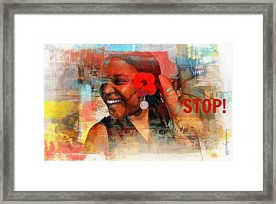 Stop Framed Print by Fania Simon