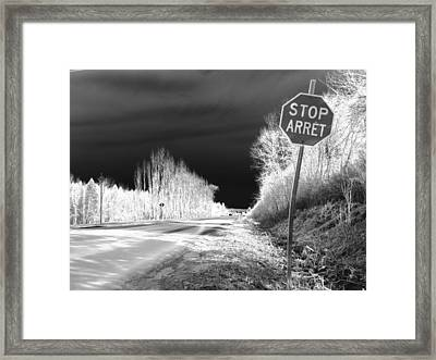 Stop For Nothing Framed Print by Jonathan Lagace
