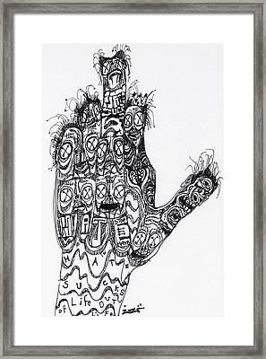 Stop Hate Show Love Framed Print by Robert Wolverton Jr