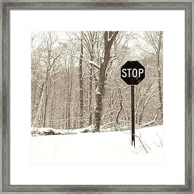 Stop Snowing Framed Print by John Stephens