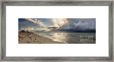 Storm Approaches Miami Beach Framed Print by Matt Tilghman