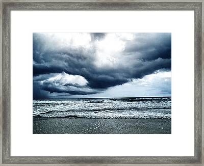Storm At Sea Framed Print by Barbara Middleton