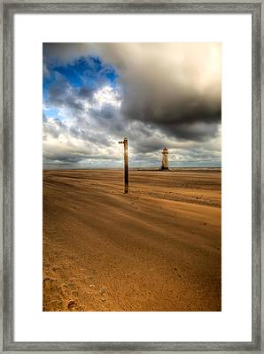 Storm Brewing Framed Print by Adrian Evans