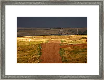 Storm Clouds In Saskatchewan Framed Print by Mark Duffy