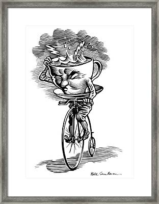 Storm In A Teacup, Conceptual Artwork Framed Print by Bill Sanderson