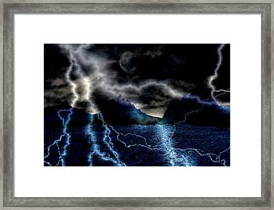 Storm In The Blue Mountains Framed Print by Angel Jesus De la Fuente