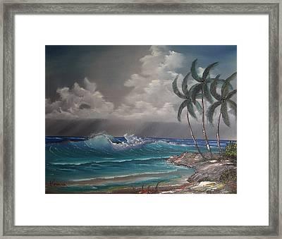 Storm On The Horizon Framed Print by John Koehler