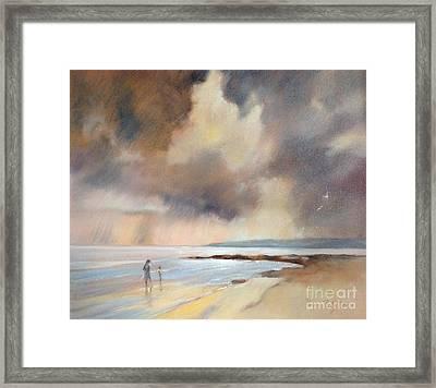 Storm Watchers Framed Print by Pamela Pretty