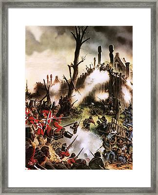 Storming Of Maori Fort  Framed Print by Oliver Frey