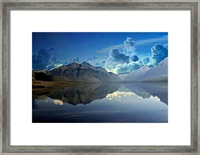 Stormy Lake Framed Print by Marty Koch
