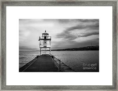 Stormy Lighthouse Framed Print by Perry Webster