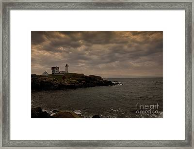 Stormy Nubble Framed Print by Timothy Johnson