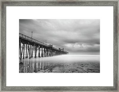 Stormy Oceanside Framed Print by Larry Marshall