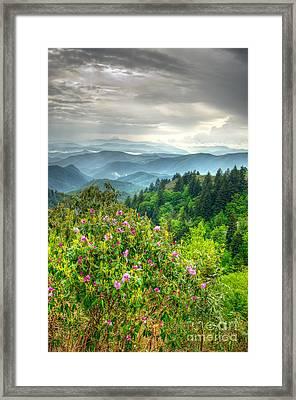 Stormy Spring Skies Framed Print by Bob and Nancy Kendrick
