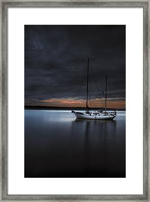 Stormy Sunset Framed Print by Ryan Manuel