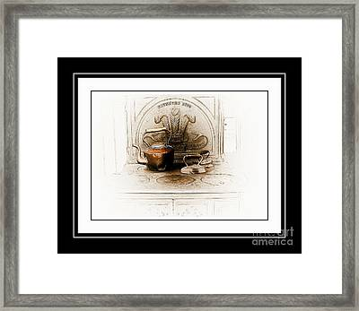 Stove Patent 1885 Framed Print by Elaine Manley
