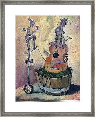 Strange Melody For A False Event Framed Print by Carlos Rodriguez Yorde