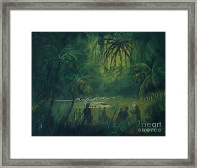 Strangers In Paradise Framed Print by William Bezik