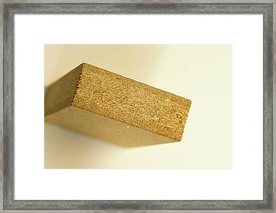 Straw Particleboard Framed Print by Alan Sirulnikoff