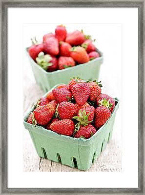 Strawberries Framed Print by Elena Elisseeva