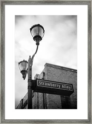 Strawberry Alley Framed Print by Paul Bartoszek