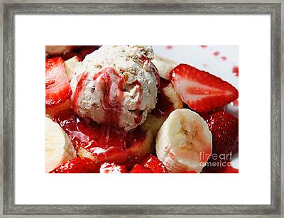 Strawberry Banana Shortcake 2 Framed Print by Andee Design