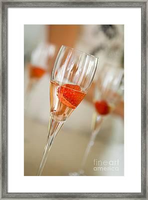 Strawberry Drinks Framed Print by Kati Molin