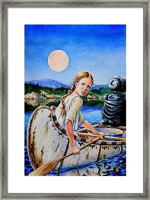 Strawberry Moon Framed Print by Hanne Lore Koehler
