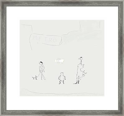 Street Apparition Framed Print by Kevin McLaughlin