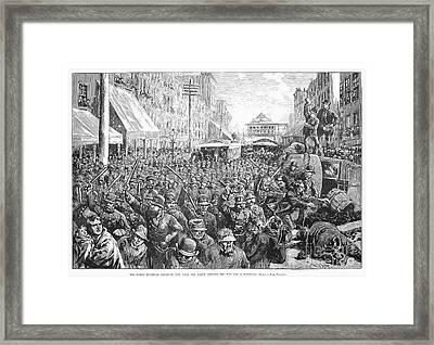Street Car Strike, 1886 Framed Print by Granger