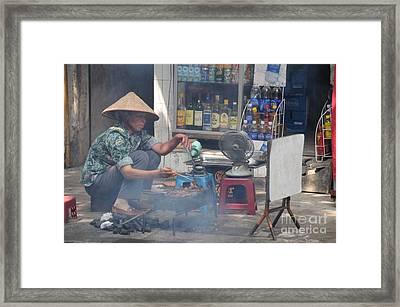 Street Chef Framed Print by Marion Galt
