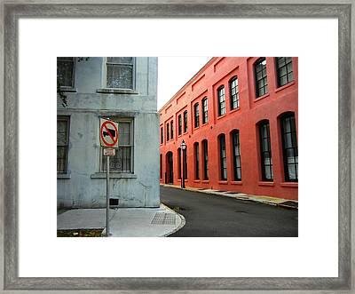 Street Corner Framed Print by Sharon Farris
