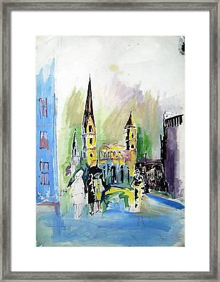 Street Framed Print by Ertan Aktas