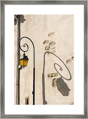 Street Lamp And Shadow Framed Print by Igor Kislev