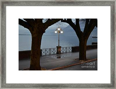 Street Lamp Framed Print by Mats Silvan