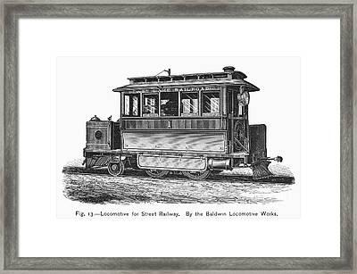 Street Locomotive, C1870 Framed Print by Granger