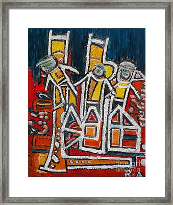 Street Musicians Framed Print by Agnes Roman