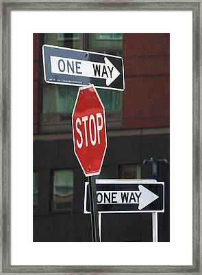 Street Signs Framed Print by Fotog