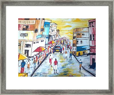 Street Walk Framed Print by Kchris Osuji