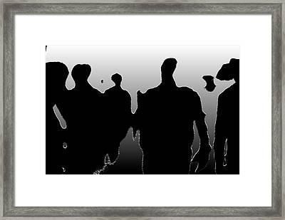 Street Walkers Framed Print by JC Photography and Art