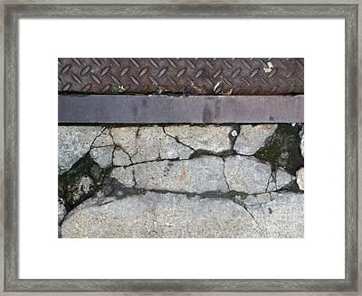 Streets Of Ny Abstract Three Framed Print by Marlene Burns