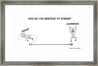 Stress Scale Framed Print by Judy Nelson