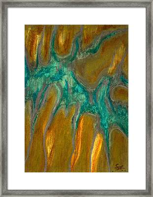 Stretching Framed Print by Carla Sa Fernandes