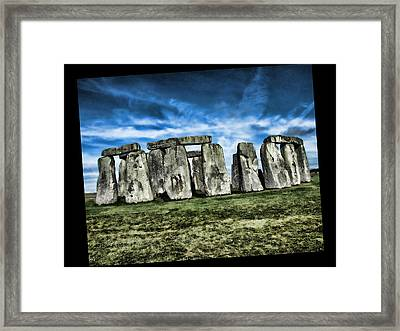 Striking Scene Of Stonehenge Framed Print by Elaine Plesser